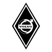 Stickers Hoekschild Volvo - Kleur en Afmetingen naar keuze