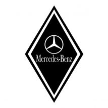 Stickers Hoekschild Mercedes - Kleur en Afmetingen naar keuze