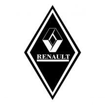 Stickers Hoekschild Renault - Kleur en Afmetingen naar keuze