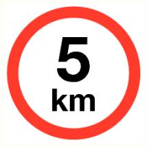 Maximale snelheid 5 km - kunststof plaat 400 mm