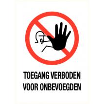 Verboden toegang voor onbevoegden - vinyl sticker 140 x 200 mm