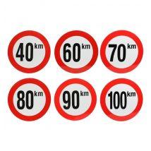Snelheidssticker België Ø210 mm (reflecterend klasse 1 - snelheid naar keuze)