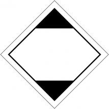 Gevaarsetiket gelimiteerde hoeveelheid LQ zelfklevend polyethyleen op rol (1000 stuks) met kaderlijn