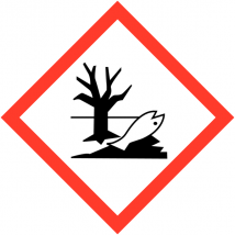 Gevaarsetiket GHS Environmental Danger 20 x 20 mm zelfklevend papier op rol - 1000 stuks