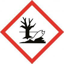 Gevaarsetiket GHS Environmental Danger 100 x 100 mm zelfklevend papier op rol - 1000 stuks