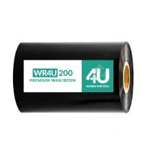 WR4U 200 Ribbon inktlint premium Wax Resin 110 mm x 450 meter