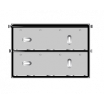 ADR bord RVS t.b.v. cijferplaten