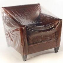 Meubelhoezen 1 zits transparant 110x150 cm / 85 stuks