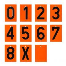 Losse ADR cijfers en letter op RVS bord 135 x 93 x 0,5 mm