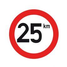 Snelheidssticker voor Nederland Ø240 mm - Snelheid naar keuze