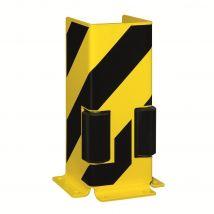 Stellingbescherming U-profiel 400 mm hoog met roller