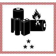 IATA etiket Lithium Batteries - Bedrukt met lay-out naar keuze