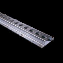 Vloerrail staal met rond gat 25 mm. lengte 3M [3010]