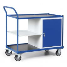 Werkplaatswagen 300 kg 1200 x 600 x 1030 mm - deur + laadplank