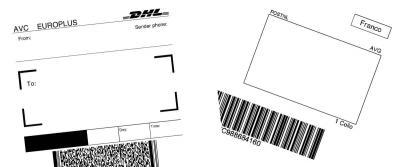 Het verschil tussen een DHL en een PostNL verzendlabel